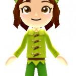 ▲ミッキーマウスのフィギュアには「ピーターパン・冬コーデ」の二次元コードが付属。