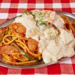 スパゲッティーのパンチョ・ぶっかけシチューナポリタン