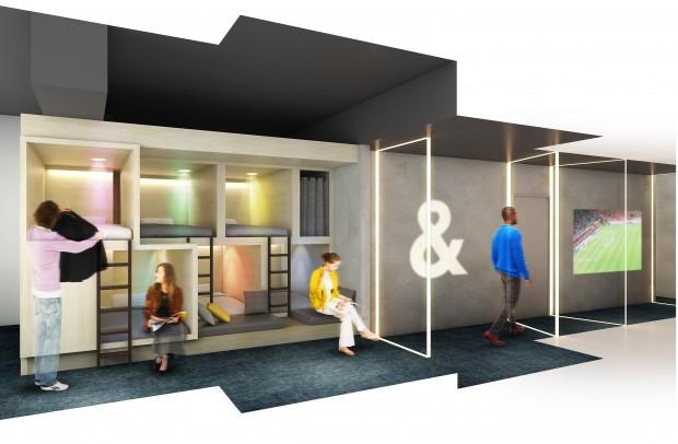 これまでの同社のホステルは2段ベッドなどの「相部屋」か個室に分かれていた