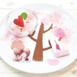 「これからはずっといっしょだよ」再会の桜プレート(800円)
