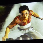 ▲最新PVにもバイクに乗りながら襲いかかる久瀬大作の姿が。上映後に小沢仁志氏の感想は「さっきも言ったけど……怖すぎんだろ」。