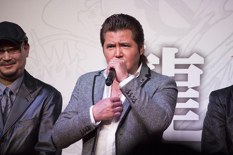 ▲竹内力氏は「東京に来て30年以上立つが、秋葉原の地に踏み込んだのは初めて。ワクワクドキドキしてて…でも、イジメられるんじゃないかと心配だ」とコメント。