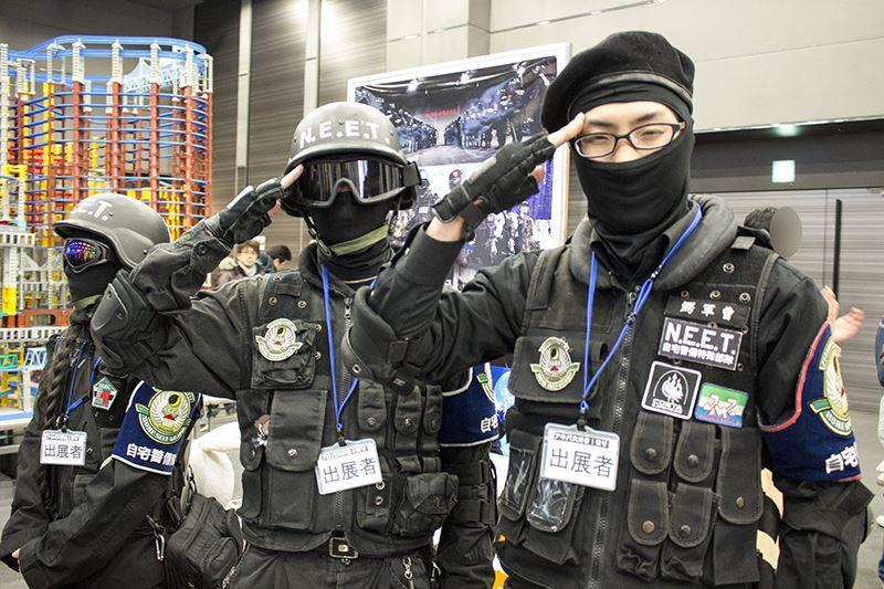 ▲自宅警備隊も宅外派遣本部として出展。