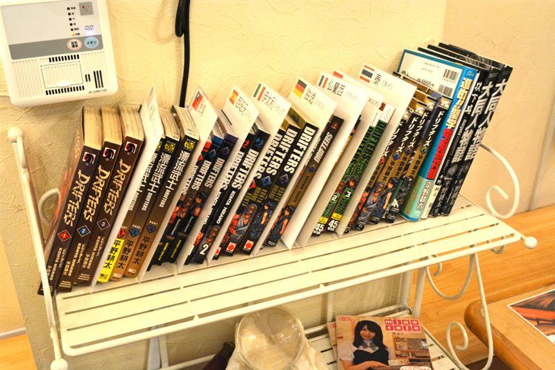 ▲店内では、アメリカ・ドイツ・フランスなど、翻訳された『ドリフターズ』が!