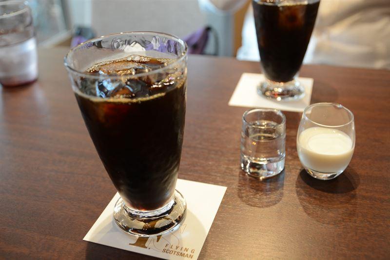 ▲暑かったので、アイスコーヒー(600円)を注文。