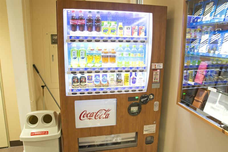 ▲自動販売機も設置。結構ありがたい存在だ。