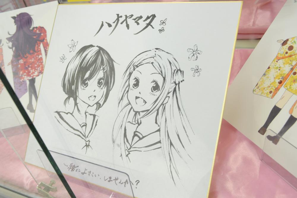 ▲主人公・関谷なる役の上田麗奈さんが、色紙に30分くらいで描いたイラスト。上手い。