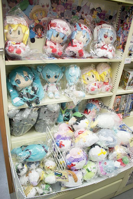 ▲GIFTのぬいぐるみも本店舗の人気商品。