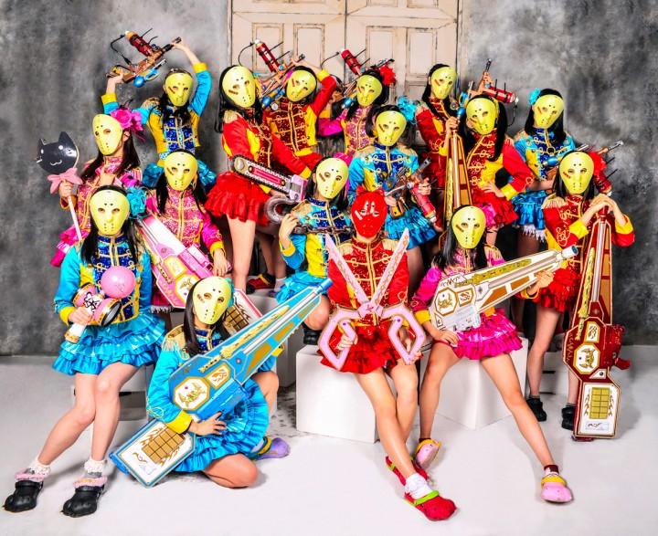 ▲WORLD YO-YO CONTEST スペシャルサポーターの仮面女子。 16日(日)イベント出演予定。