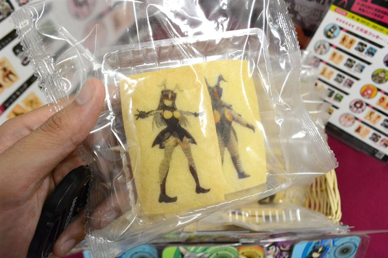 ▲キャラがプリントされているクッキーはこんな感じ。