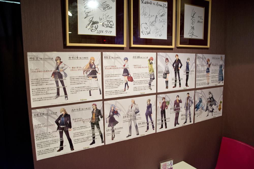 ▲店内の壁にはキャラクターのPOPなどが貼られている。発売が楽しみだ―!