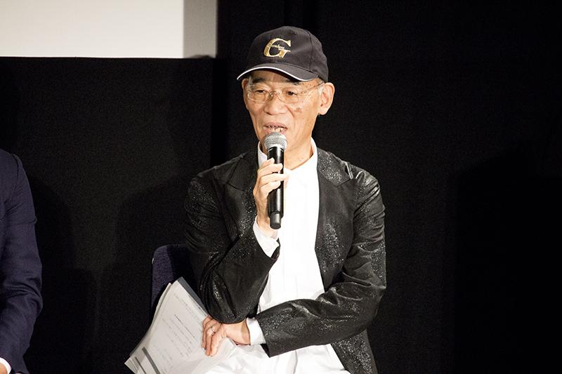 ▲『機動戦士ガンダム』総監督・富野由悠季氏も登壇。