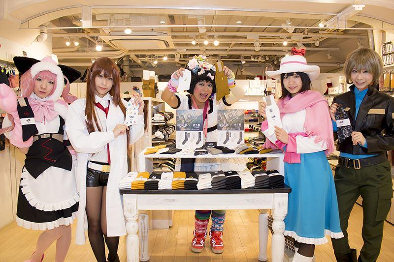▲アトレ秋葉原1・3Fの靴下屋ではコラボ靴下も販売。