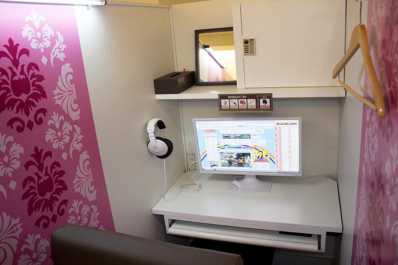 ▲ピンクを基調とした「スウィート」デザインブース。