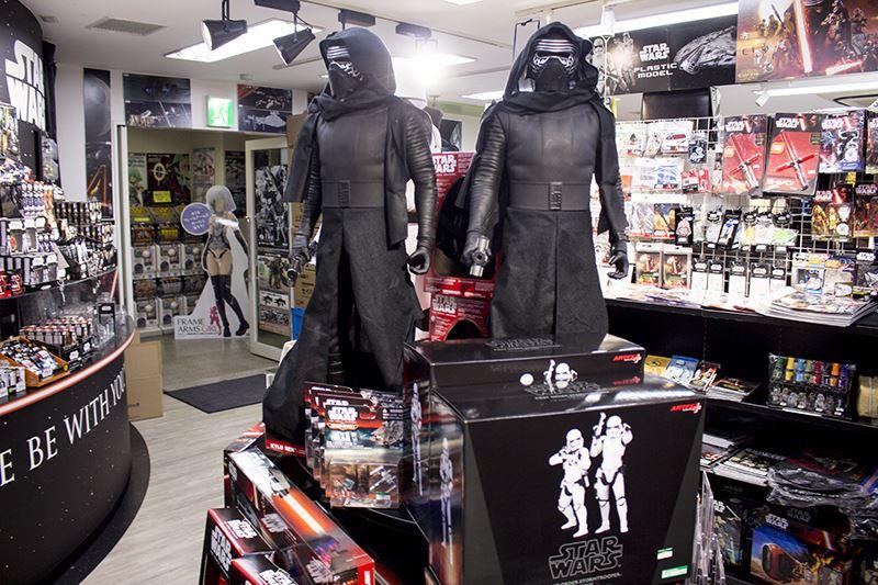 ▲コトブキヤ秋葉原館4Fでは、映画『スター・ウォーズ』グッズの集積コーナーが展開中。