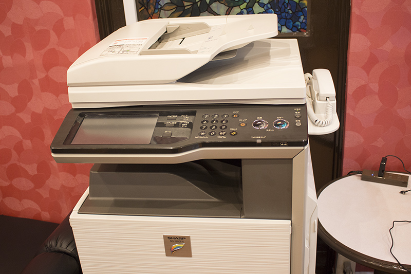 ▲コピー機も設置。ちょっとした作業や調べ物をする場所としても最適。
