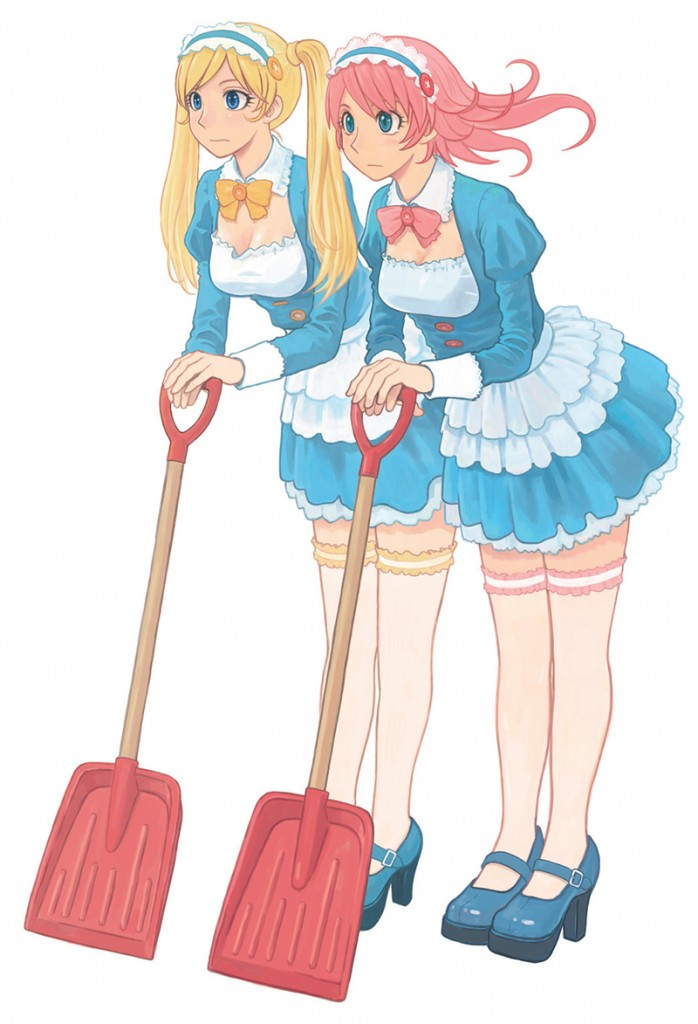 ▲ワンダーフェスティバル2016[冬]オフィシャルキャラクター「ワンダちゃん&リセットちゃん」