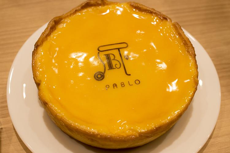 ▲「PABLO」名物の『焼きたてチーズタルト』。