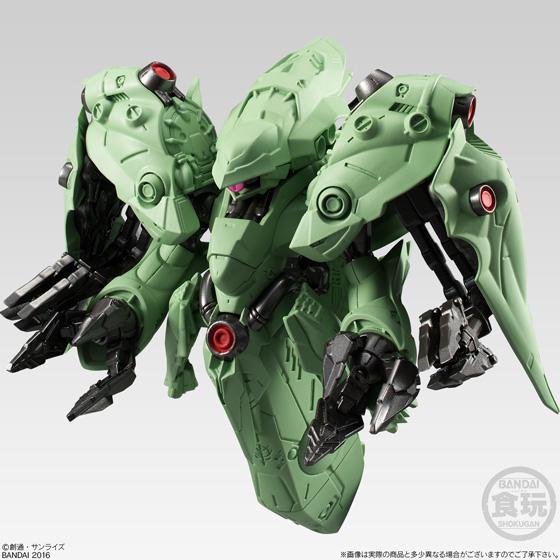 ▲肩側面部に備えるメガ粒子砲と姿勢制御用バーニア、背部テール部のメインスラスターやノズルも細かく造形されている。
