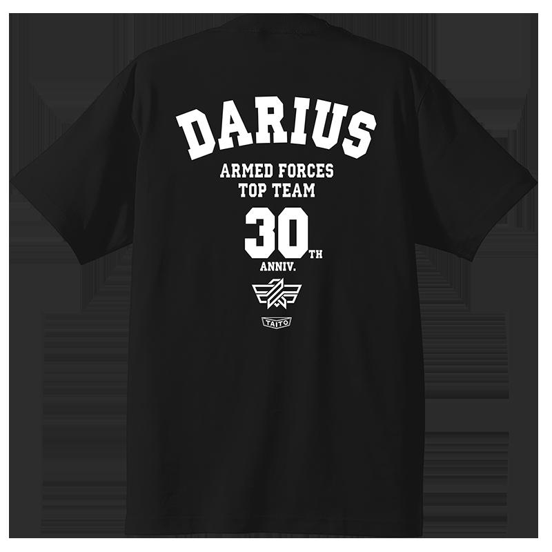 ▲「ダライアス30周年×Hey Tシャツ」裏面。