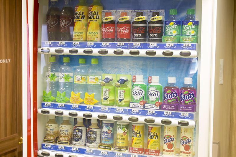 ▲店内には自動販売機も設置。