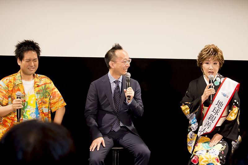 オリジナルソング「ヨーコソ・アークス」の作詞・作曲を担当したビートまりおさん(写真左)は『PSO2』を1万時間以上プレイしているヘビーユーザー。