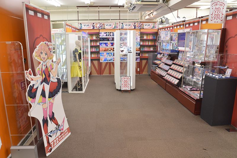 ▲「TVアニメ「マクロスΔ」裸喰娘娘 ゲーマーズ支店」の全景。