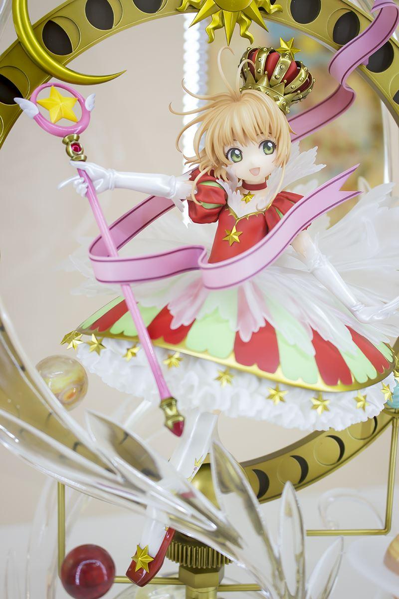 ▲グッドスマイルカンパニー15周年記念フィギュア「木之本桜 Stars Bless You」。