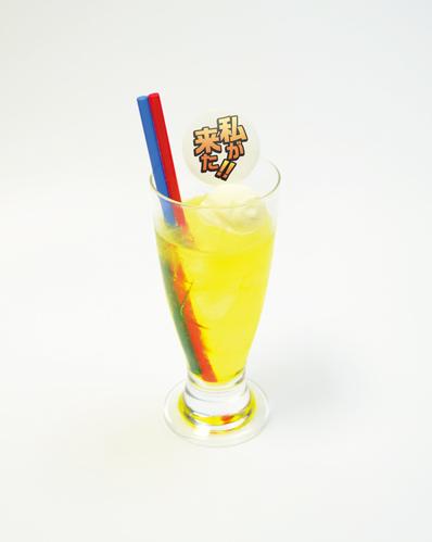 ▲オールマイトのこれを飲めば、君もヒーローになれる!!ヒーローエナジードリンク(500円)。