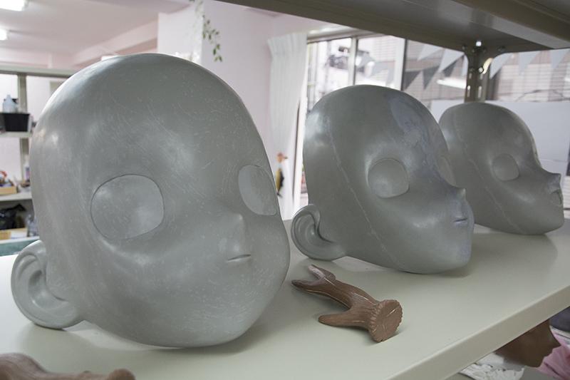 ▲試作として、型から蝋で作ったもの。