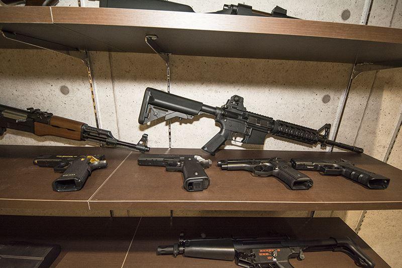 ▲シューティングレンジに置かれている武器なら、どれでも使用可。