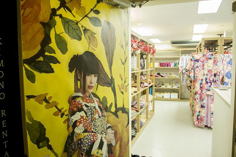 ▲東京観光や撮影に着物を借りたいという方は「着物レンタルバサラ 秋葉原店」へ。