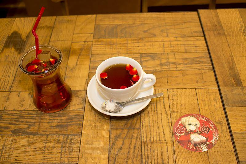 皇帝陛下の茶会(紅茶ICE・HOT) 650円(税込) コースター:ネロ・クラウディウス