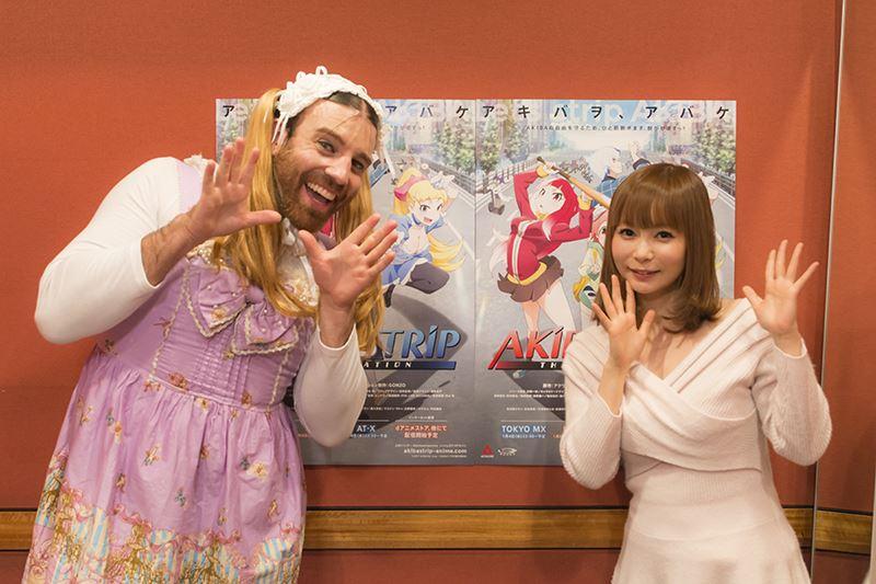 ▲「恋に新参!」で初顔合わせとなった、中川翔子さん(右)とレディビアードさん(左)。