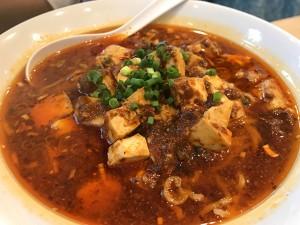 麻婆麺(1000円)は、豆腐の食感がよく辛みも強い