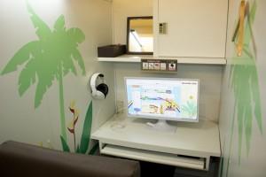 個室は明るいイメージ(写真は2015年撮影)