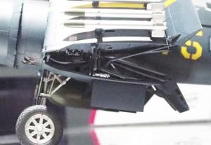 翼の折り畳み部分。精密に再現されている