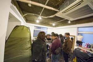 1日限定イベントのため、更衣室は仮設のテント