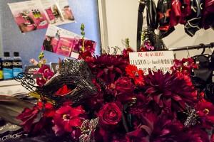イベント開催を祝して、イベント、実店舗の常連さんたちからお花の贈呈