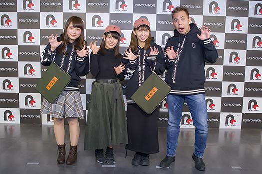 左から寺田晴名さん、松田利冴さん、飯田里穂さん、芦名みのる監督
