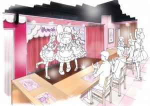 公開されたコラボカフェのイメージスケッチ