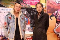 名越監督(左)と佐藤ゼネラルプロデューサー