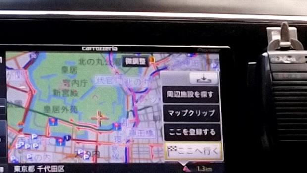 軒並み「渋滞」マークが点滅する千代田区の中心地