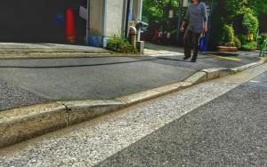 【参考】「切り下げ」をつけた歩道
