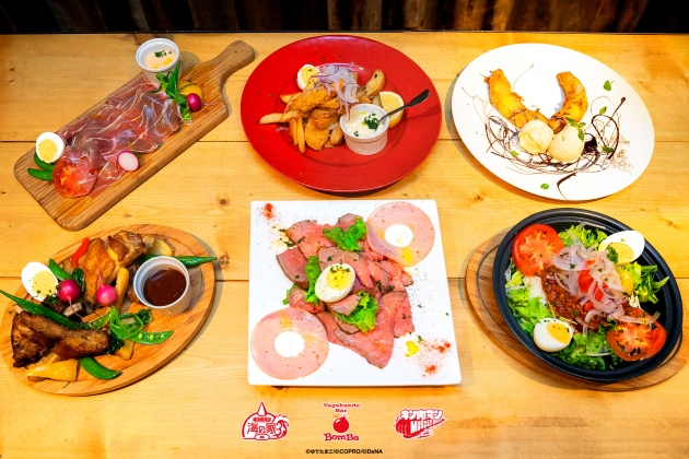 「キン肉マン海の家」のインスタ映えしそうな肉メニュー