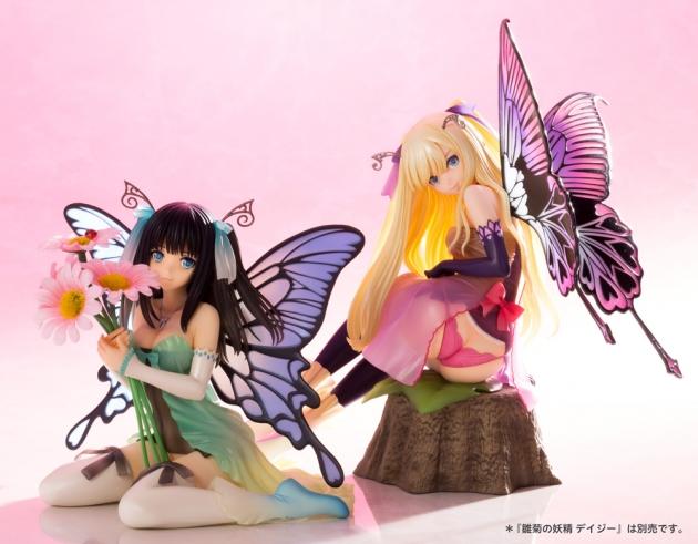 今年5月に発売になった「雛菊の妖精 デイジー」(左)と並べると雰囲気が更にアップ。(C)Tony