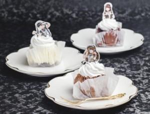 3種類のケーキに合わせ、それぞれのイメージに合ったメイドさんイラストを描きおろし