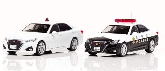 神奈川県警の覆面モデル(左)と警視庁のパトカーカラーモデル(右)