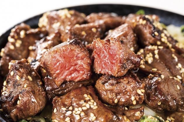ROCK(岩)のような肉がタップリのハラミステーキ丼を期間限定で提供