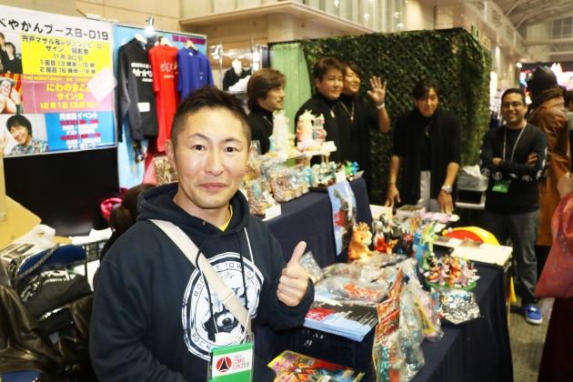 コレクターのなべやかんさん自身も出店、東京コミコンで展示されている実際映画で使用されたプロップを紹介してくれた。